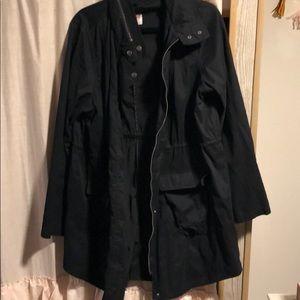 Mossimo trench black jacket size XXL